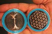 Paul Santisi Energy Coin Copper/Teal Blue + FREE SHIPPING