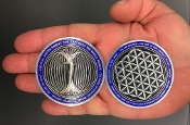 Paul Santisi Energy Coins Silver/Blue + FREE SHIPPING