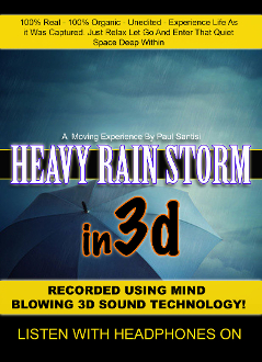 3D Sound Amazing Heavy Rain Storm At Night Over 2 Hours Long