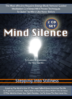 "2 CD SET Guided Meditation ""MIND SILENCE"" Remove Negative Blocks"