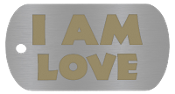 "NEW ""I AM LOVE "" Empowerment Energy Tags PLUS FREE SHIPPING"