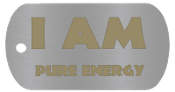 "NEW ""I AM PURE ENERGY "" Empowerment Energy Tag + FREE SHIPPING"