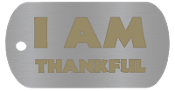 "NEW ""I AM THANKFUL"" Empowerment Energy Tags PLUS FREE SHIPPING"